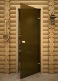 Стеклянная дверь для бани и сауны AKMA матовая, 6мм, 700x1900