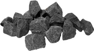 "Камни для бани и сауны ""Габбро-диабаз"", колотый, 20кг."