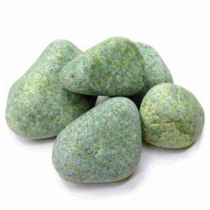 """Камни для бани и сауны """"Жадеит"""", шлифованный , 20кг."""