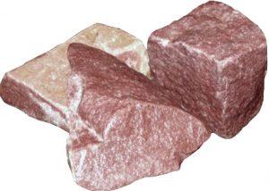 """Камни для бани и сауны """"Малиновый кварцит"""", колотый, 20кг."""